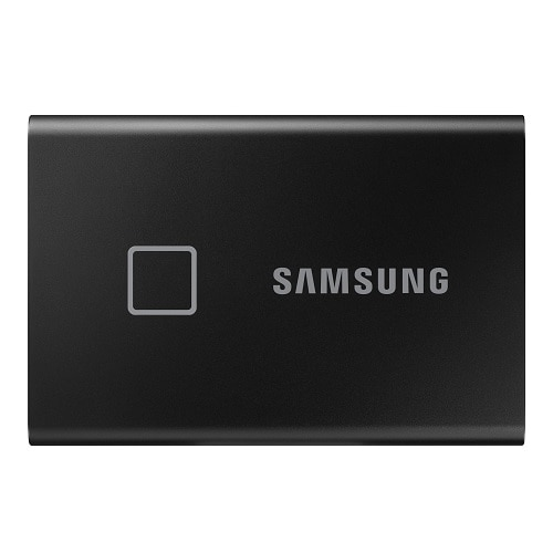 Samsung Portable SSD T7 Touch MU-PC1T0K - Solid state drive - encrypted - 1 TB - external (portable) - USB 3.2 Gen 2 (USB-C connector) - 256-bit AES -