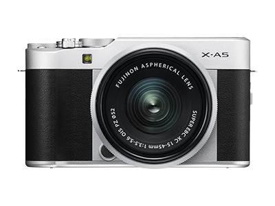 Fujifilm X Series X-A5 - Digital camera - mirrorless - 24.2 MP - APS-C - 4K / 15 fps - 3x optical zoom - Fujinon XC 15-45mm OIS PZ lens - Wi-Fi, Bluet