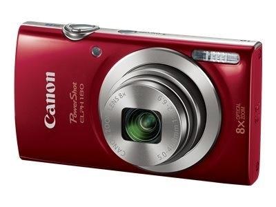 Canon- PowerShot ELPH 180 - Digital camera - red