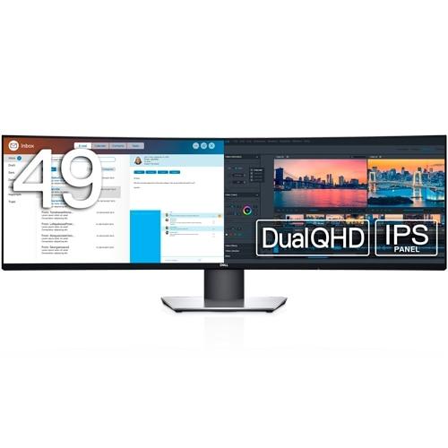 Dell U4919DW 49インチワイド曲面モニタ-(DualQHD/32:9/IPS非光沢/USB-C,HDMIx2,DP/高さ調整/sRGB 99%)