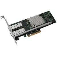 Dell Intel X520 Duálny port 10Gigabitový SFP serverový adaptér síte Ethernet PCIe Nízkoprofilový