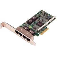 Dell Broadcom 5719 Ctyrportový 1 Gigabitový, karta sítového rozhraní Nízkoprofilový