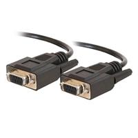 C2G - Sériový kabel - DB-9 (F) - DB-9 (F) - 2 m (6.56 ft) - lisovaný, k?ídlové šrouby - ?erná