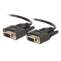 C2G - Sériový kabel - DB-9 (F) - DB-9 (F) - 5 m (16.4 ft) - lisovaný, k?ídlové šrouby - ?erná
