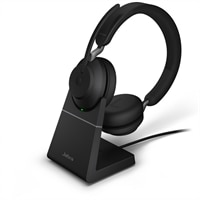 Jabra Evolve2 65 MS Stereo - Náhlavní souprava - náhlavní - Bluetooth - bezdrátový - USB-C - izolace zvuku - černá - s nabíjecí stojan