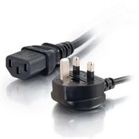 C2G Universal Power Cord - Strømkabel - IEC 320 EN 60320 C13 - BS 1363 (han) - 2 m - støbt - sort