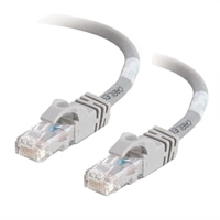 C2G Cat6 550MHz Snagless Patch Cable - Patchkabel - RJ-45 (han) - RJ-45 (han) - 15 m (49.21 ft) - CAT 6 - støbt, flertrådet, snagless - grå