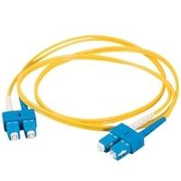 C2G SC-SC 9/125 OS1 Duplex Singlemode PVC Fiber Optic Cable (LSZH) - patchkabel - 2 m - gul