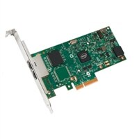Dell Dual-Port- 1 Gigabit Serveradapter Intel Ethernet I350 PCIe-Netzwerkkarte Low-Profile, Cuskit