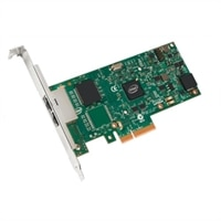 Dell Dual-Port- 1 Gigabit Serveradapter Intel Ethernet I350 PCIe-Netzwerkkarte Volle Höhe, Cuskit