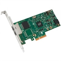 Dell Dual-Port- 1 Gigabit Serveradapter Intel Ethernet I350 PCIe-Netzwerkkarte Volle Höhe
