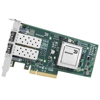 Προσαρμογέας δικτύου σύγκλισης FCoE 10 Gbps δύο θυρών χαμηλού προφίλ Dell Brocade 1020