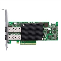 Προσαρμογέας διαύλου κεντρικού υπολογιστή (HBA) καναλιού οπτικών ινών Emulex LPE 16002 Διπλός θυρών 16Gb, χαμηλού προφίλ, κιτ πελάτη