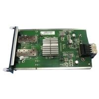 Dell SFP+ 10GbE μονάδα μνήμης για N3000/S3100 Series, 2x SFP+ θυρών (οπτικό στοιχείο or καλώδιο άμεσου συνδέσμου παθητικού απαιτείται)