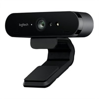 Logitech BRIO 4K Ultra HD webcam - κάμερα web - χρώμα - 4096 x 2160 - ήχου - USB