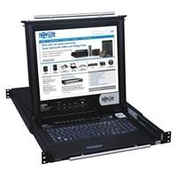 16-port Tripp Lite 16-Port Rack Console KVM Switch built in IP w/ 17-inch LCD 1U TAA GSA - KVM switch - 16 ports - ra...