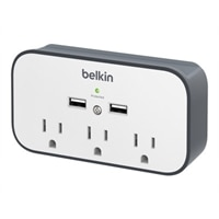 Belkin USB 3-Outlet Wall Mount Surge Protector with Cradle