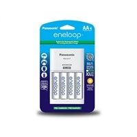 Panasonic eneloop KKJ17MCA4BF - 6-7 hr battery charger - (for 4xAA/AAA) 4 x AA type - NiMH - 2000 mAh - 300 mA