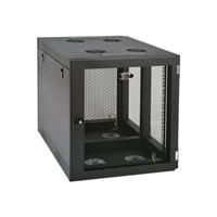"Tripp Lite 12U Wall Mount Rack Enclosure Server Cabinet Side Mount Wallmount - Rack - cabinet - wall mountable - black - 12U - 19"""