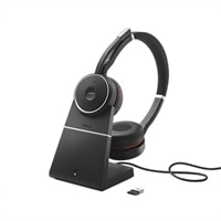 Jabra Evolve 75+ UC Stereo - Headset - on-ear - Bluetooth - wireless - active noise cancelling - USB