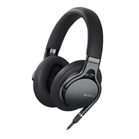 Sony MDR-1AM2 - Headphones with mic - full size - wired - 3.5 mm jack - Black