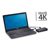 Dell D3100 - Docking station - USB - 2 x HDMI, DP - GigE - for Inspiron 15 Gaming 7567; Latitude 13 7350