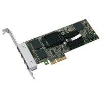 Dell Quad Port 1 Gigabit Server Adapter Intel Ethernet I350 PCIe Network Interface Card Low Profile, Cuskit