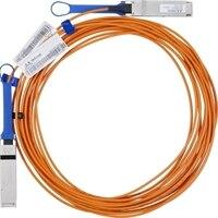 Dell VPI Mellanox FDR InfiniBand QSFP assembled Optical Cable - 5 meter, Customer Kit