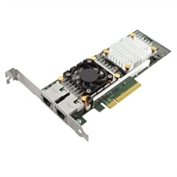 Dell QLogic 57810 Dual Port 10 Base-T Server Adapter Ethernet PCIe Network Interface Card Full Height