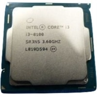 Intel Core i3 8100 3.60GHz, 6M Cache, 4C/4T, no turbo (65W), CK