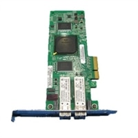 Dell QLogic 2462, Dual Port 4GB Optical Fibre Channel Host Bus Adapter, Low Profile - Kit