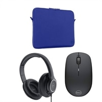Education Active Classroom Bundle for Latitudes: Blue Neopreene Sleeve 11in, Wireless Mouse WM 126 Black and AE2 Headset