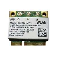 Dell Refurbished: Intel WiFi Link 6300 (802.11a/ g/n 3X3) 1/2 MC for Select Dell Alienware / Inspiron/ Latitude/ Studio/ XPS Laptops / Precision Mobile WorkStations