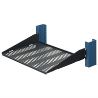 2 Post Vented Flanges Down Rack Shelf - 13 inch