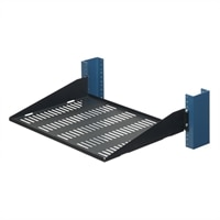 2-Post Solid Flanges Up Rack Shelf - 13 inch