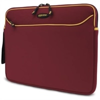Mobile Edge 15.4-inch SlipSuit - Laptop carrying case - 15.6-inch - red, gold