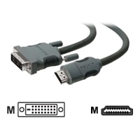 Belkin - Video cable - HDMI / DVI - HDMI (M) to DVI-D (M) - 10 ft - double shielded - B2B