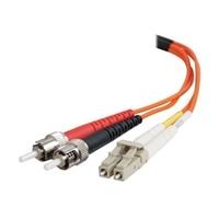 C2G 20m LC-ST 62.5/125 OM1 Duplex Multimode PVC Fiber Optic Cable - Orange - patch cable - 20 m