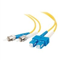 C2G 20m SC-ST 9/125 Duplex Single Mode OS2 Fiber Cable - Yellow - 65ft - patch cable - 20 m - yellow