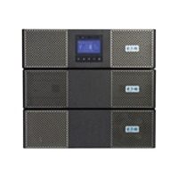 Eaton Corporation 9PX rack/tower UPS. 8000 VA/7200W with 11 kVA Extended Battery Module, 11 kVA HotSwap Maintenance Bypass and 5 kVA Transformer-Black and Silver