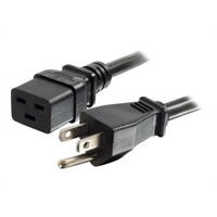 C2G 6ft 14AWG 125 Volt Power Cord (NEMA 5-15P to IEC320 C19) - power cable - 6 ft