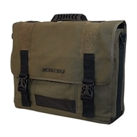 Eco Messenger Laptop Carrying Case - Fits Laptops with Screen Sizes up to 17.3-inch - Olive