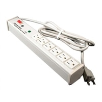 C2G 6ft Wiremold 6-Outlet Plug-In Center Unit 120v/15a Lighted Switch Computer Grade Power Strip - power strip