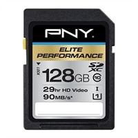 PNY Elite Performance - Flash memory card - 128 GB - UHS Class 3 / Class10 - SDXC UHS-I