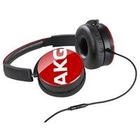 AKG Y50 - Headphones with mic - on-ear - 3.5 mm jack - red