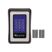 DataLocker DL3FE 2TB USB 3.0 FIPS 140-2 encrypted external portable hard drive w/RFID