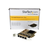 StarTech.com 4-Port PCIe Gigabit Network Adapter Card - Network adapter - PCIe - Gigabit Ethernet x 4 - yellow