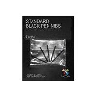 Wacom Standard Pen Nibs - Digital pen nib - black (pack of 5) - for Intuos4 Large, Medium, Small, Wireless, X-Large