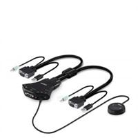 2-port Belkin Secure Flip 2-Port KVM Switch - KVM / audio switch - 2 x KVM / audio - 1 local user - desktop