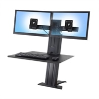 Ergotron WorkFit-SR, Dual Monitor Sit-Stand Desktop Workstation (black)